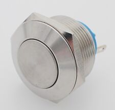 22mm Thread Stainless Steel Momentary Push Button Switch 1NO IP67