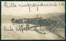 Verbania Stresa Isola dei Pescatori Foto cartolina XB5152
