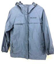 Columbia Womens Sz S Ibex Pvc Waterproof Rain Suit Parka Jacket Pants Blue