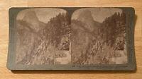 Glacier Cañon to Half Dome –Yosemite Valley California – 1902 Stereoview Slide