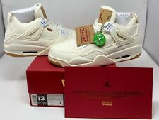 Air Jordan 4 Levi's White (w/ Levi Tag) StockX Verified (Size 13) New w/ Box