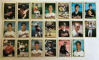1990 BALTIMORE ORIOLES Bowman COMPLETE Baseball Team Set 20 Cards RIPKEN OLSON!