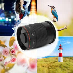 For Sony A6400/A6300/A6100/A6000 500mm F8 Telephoto Mirror Lens With 3 Filters