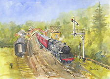 North Yorks Moor Railway, Goathland Hand Signed, Titled & Mounted Print with COA
