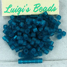 10g Transparent-Frosted Teal #7BDF TOHO Glass Cube Seed Beads 3mm