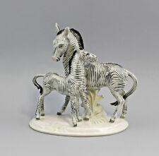 Porzellanfigur Zebra mit Fohlen Ens 20x21cm 9941367