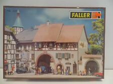 RARE VINTAGE NOS FALLER HO SCALE #424 TIMBER FRAMED DOUBLE ROW HOUSE AND TUNNELS