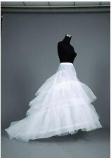 White 2-Hoop Trail Petticoat Underskirt/underdress/slip Wedding Dress Plus Size