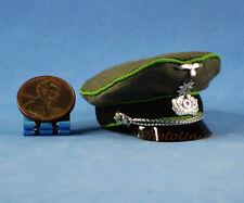 FIGURE 1:6 WW2 GERMAN General Officer Commander Visor Peaked Cap Hat WF_6F