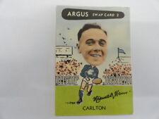1954 ARGUS VFL SWAP CARD NO.2 MAX WENN CARLTON