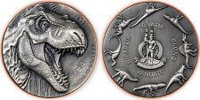10 Vatu Vanuatu 2021 -  T-Rex Silver Giant 2021 -145g Kupfer + 10g Silber