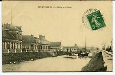CPA - Carte Postale - France - Les Attaques - La Mairie et le Canal - 1913