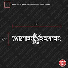 2x WINTER BEATER sticker vinyl funny decal JDM white