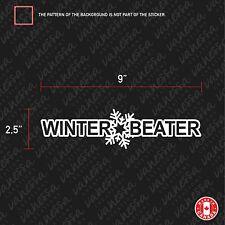 2x WINTER BEATER sticker vinyl funny decal JDM white
