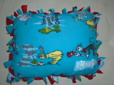 Dr Seuss Green Eggs & Ham ~Cat In Hat And Tied Double Side Fleece Pillow~New