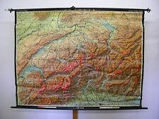 Schulwandkarte Wandkarte Karte Schweiz Switzerland Eidgenossen 207x157cm ~1919