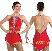 Ice skating dress.Red Competition Figure Skating Dress /Baton Twirling Costume