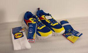 Lidl Trainers Rare Limited Fan Edition Trainers size EU 38 UK 5 + Socks & Bag