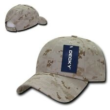 Decky Camo Camouflage Structured Low Crown Baseball Pre Curved Bill Caps Hats