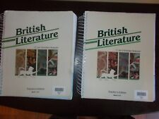 2 Sets British Literature For Christian Schools Teachers Edition Books 1 and 2