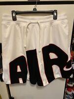 Nike DNA Air Mesh Mens BV7737-100 White Black Basketball Shorts Size XLarge