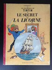 Album Hergé Tintin Le Secret de la Licorne B11 1954 TRES BON ETAT