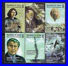 GUINEA/SPACE & ASTRONOMY MNH unmounted neuf ** COPERNICUS, BALLOONS, WWII ROCKET