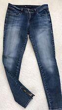 Divine Rights Of Denim Women's Skinny Jeans Zippered Hem size 28 In.