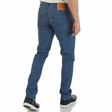Levis 511 Slim Fit Pinstripe Blue Jeans Stretch Men's Sizes NWT 04511-4093 RT$69