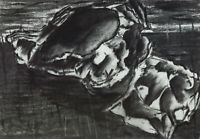 Rosalind Adams (née Thuillier) - Contemporary Charcoal Drawing, Composition