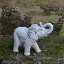 Große massive Steinfigur Elefant Gartendeko Raumdeko aus Steinguss frostfest