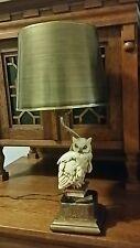 ANTIQUE VINTAGE MARION BRONZE SNOW OWL BOOK ART STATUE SCULPTURE LAMP
