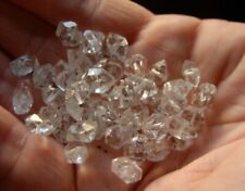 10 Medium Drilled Herkimer Diamond Quartz Crystal Beads 6 to 8mm EMF Protection