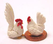 1:12 Scale Polymer Clay Chicken & Cock Tumdee Dolls House Garden Farm Animal Apc