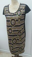 Boo Hoo Ladies Size 10 Black Gold Pink Mix Sequin Embellished Dress Summer Party