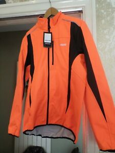 L Winter Cycling Jacket Bike Jersey MTB Windproof Waterproof Soft shell Orange