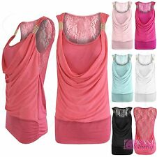 Scoop Neck Semi Fitted Sleeveless Tops & Shirts for Women