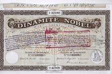 1913 * DINAMITE NOBEL AZIONE STORICA ORIGINALE ED AUTENTICA