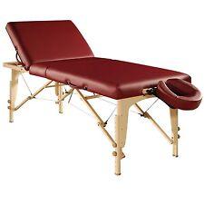 Mt Massage 30 inch Midas Tilt Portable Table Package Backrest Spa Burgundy