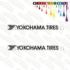"2 x8"" Yokohama car racing window vinyl sticker decal"