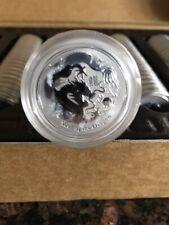 (1 coin) 2012 Australian 1/2 oz .999 Silver Lunar Dragon Coin in Mint Capsule BU