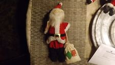 """20#4   Vintage Stand Up Santa Claus cloth figurine   13 """" tall ADORABLE"""