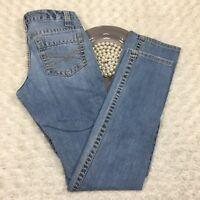 Aeropostale Womens Bayla Skinny Jeans Size 3/4 Slim Stretch Blue Denim MQ496
