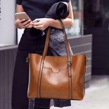Women Oiled Wax Tote Purse Messenger Handbag Shoulder Bags Satchel Gifts