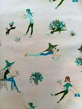 1960's Vintage Wallpaper Mod Girl Pattern One Roll Poodle