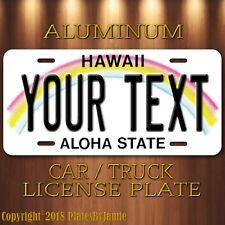 Custom HAWAII Aluminum License Plate Tag Personalized Auto Tag ALOHA STATE