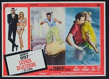 FOTOBUSTA 2, 007 LICENZA DI UCCIDERE Dr. No BOND, CONNERY FLEMING POSTER AFFICHE