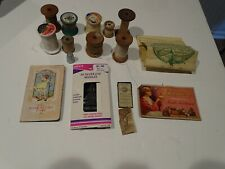 Vintage Sewing Needles & Spools of Thread, Etc. Lot 24