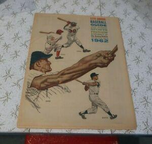 1962 Sunday Bulletin Phillies Baseball Guide, ex  Mantle & Maris, Yankees