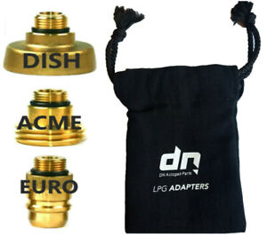 LPG Autogas Filling Adapters Set FOR ALL Europe SET OF 3 TRAVEL KIT+ BAG